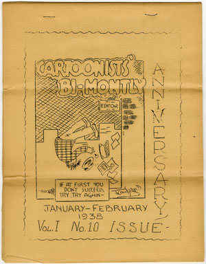 CARTOONISTS BI-MONTHLY #10 (1938 RARE FANZINE JOE SIMON