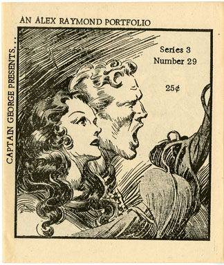 CAPTAIN GEORGE PRESENTS #29 (1970s) NOSTALGIA FANZINE - ALEX RAYMOND