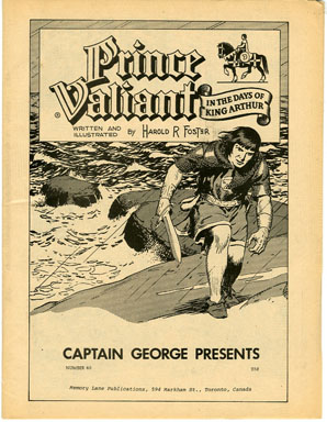 CAPTAIN GEORGE PRESENTS #46 (1970s) NOSTALGIA FANZINE - PRINCE VALIANT REPRINTS