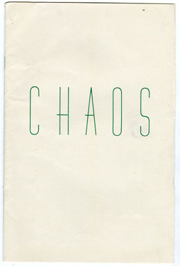 CHAOS #1 (1939) SCIENCE FICTION FANZINE / JACK CHAPMAN MISKE