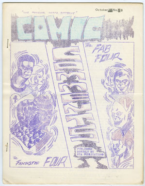COMIC COMMENTS #8 (1966) FANZINE / FANTASTIC FOUR / LETTERS