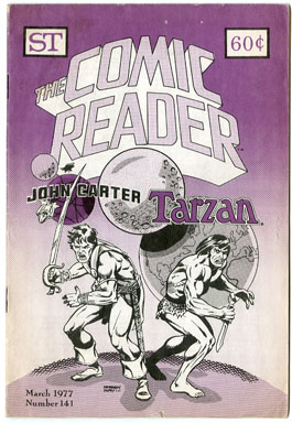 COMIC READER #141 FANZINE (1977) JOHN CARTER OF MARS / TARZAN COVER