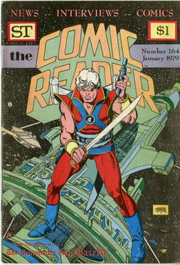 COMIC READER #164 FANZINE (1979) GIL KANE STARHAWKS COVER