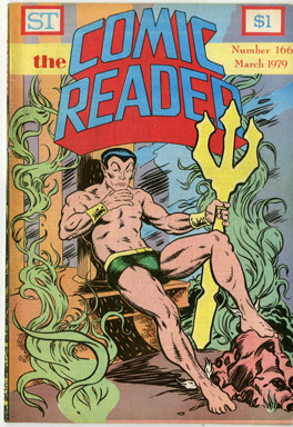 COMIC READER #166 FANZINE (1979) RICHARD HOWELL SUB-MARINER/NAMOR COVER
