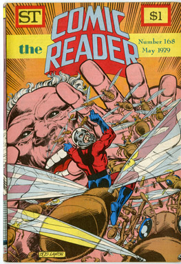 COMIC READER #168 FANZINE (1979) BOB LAYTON ANT-MAN COVER / COCKRUM BACK COVER