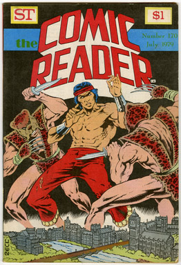 COMIC READER #170 FANZINE (1979) MIKE ZECK MASTER OF KUNG-FU COVER