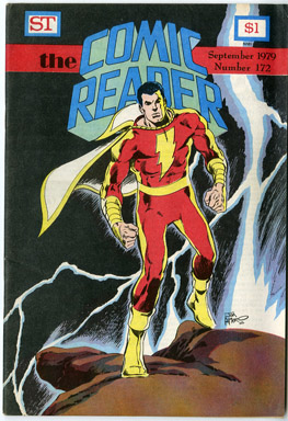 COMIC READER #172 FANZINE (1979) JIM APARO CAPTAIN MARVEL / SHAZAM COVER