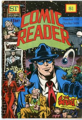 COMIC READER #173 FANZINE (1979) ALAN HANLEY / DENNIS JENSEN SPIRIT COVER