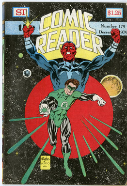 COMIC READER #175 FANZINE (1979) DON NEWTON / TERRY AUSTIN GREEN LANTERN COVER