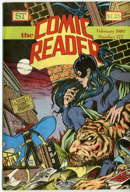 COMIC READER #177 FANZINE (1980) DENNIS JENSEN - BATGIRL/CATWOMAN/BATMAN COVER