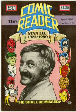 COMIC READER #179 FANZINE (1980) APRIL FOOL'S STAN LEE OBIT COVER / HILARY BARTA