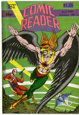 COMIC READER #180 FANZINE (1980) MARK GRUENWALD HAWKMAN/ADAM STRANGE COVER