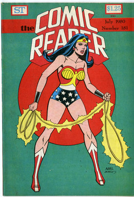 COMIC READER #181 FANZINE (1980) TERRY AUSTIN / BATMAN & WONDER WOMAN COVERS