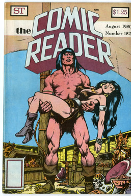 COMIC READER #182 FANZINE (1980) JOHN BUSCEMA / CONAN THE BARBARIAN COVER