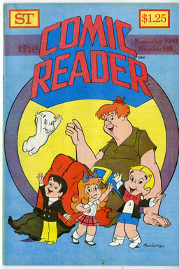 COMIC READER #185 FANZINE (1980) HOWARD BENDER HARVEY COVER RICHIE RICH CASPER