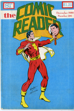 COMIC READER #186 FANZINE (1980) DON NEWTON CAPTAIN MARVEL COVER / HEMBECK BC