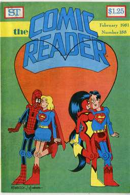 COMIC READER #188 FANZINE (1981) FRED HEMBECK / ALAN HANLEY COVERS SUPERGIRL