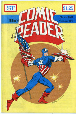 COMIC READER #189 FANZINE (1981) DON NEWTON/MIKE MIGNOLA CAPTAIN AMERICA COVERS