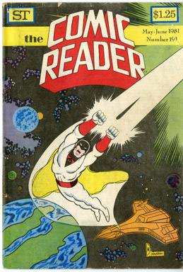 COMIC READER #191 FANZINE (1981) DARELL McNEIL/LARRY HOUSTON SPACE GHOST COVER