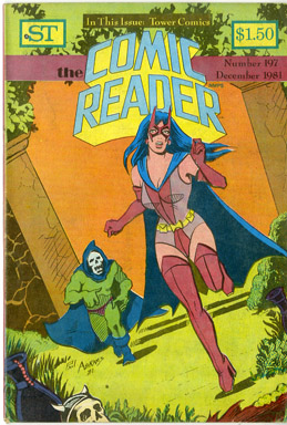 COMIC READER #197 FANZINE (1981) PAUL ABRAMS HUNTRESS COVER/HEMBECK JSA/JLA CVR