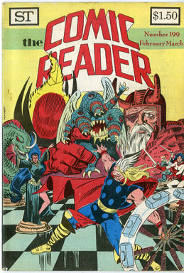 COMIC READER #199 FANZINE (1982) AL MILGROM THOR COVER / MIKE MIGNOLA MANHUNTER