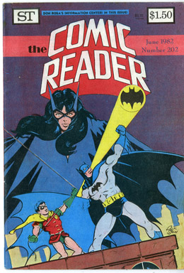 COMIC READER #202 FANZINE (1982) RICK STASI BATMAN/ROBIN/HUNTRESS COVER