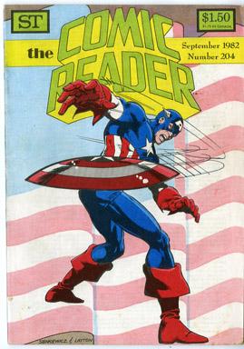 COMIC READER #204 FANZINE (1982) BILL SIENKIEWICZ CAPT AMERICA COVER / AUSTIN