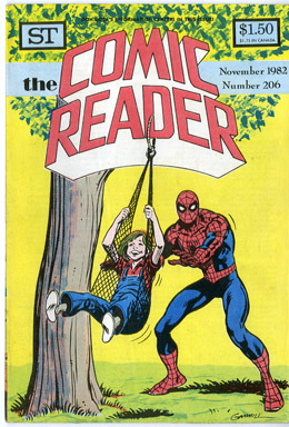 COMIC READER #206 FANZINE (1982) KERRY GAMMILL SPIDER-MAN COVER / MIGNOLA BATMAN