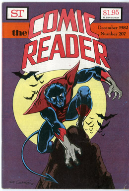 COMIC READER #207 FANZINE (1982) DAVE COCKRUM NIGHTCRAWLER COVER