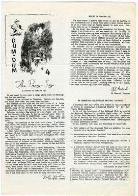 DUM-DUM #4 (1963) FANZINE / EDGAR RICE BURROUGHS / JEFF JONES BACK COVER