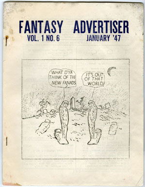 FANTASY ADVERTISER #6 (1947) SCIENCE FICTION FANZINE / ADZINE