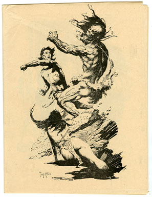 CAPTAIN GEORGE'S COMIC WORLD #15 (1970) FANZINE FRAZETTA PORTFOLIO