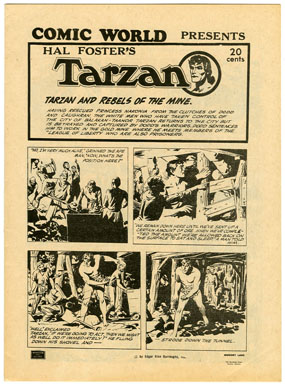 COMIC WORLD PRESENTS HAL FOSTER'S TARZAN (1970s) FANZINE