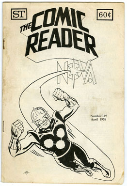 COMIC READER #129 FANZINE (1976) NOVA COVER