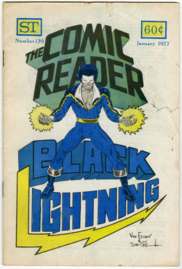COMIC READER #139 FANZINE (1977) BLACK LIGHTNING COVER / JOE ORLANDO