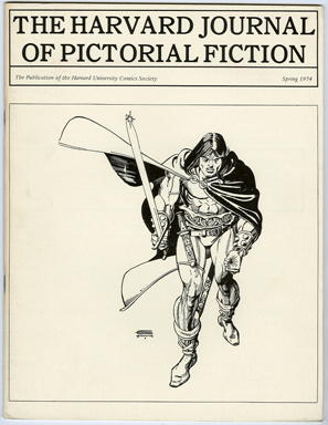 HARVARD JOURNAL OF PICTORIAL FICTION (1974) FANZINE / GIL KANE COVER