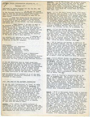 SOUTHERN FANDOM CONFEDERATION BULLETIN #17 (1977)