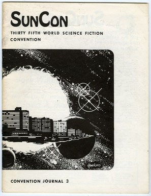 SUNCON CONVENTION JOURNAL #3 (1977) FANZINE / 35th WORLD SCI-FI CON / CON PHOTOS