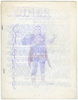 SUPER-HERO CALENDAR (1964) FANZINE / BILJO WHITE / RONN FOSS / BUDDY SAUNDERS