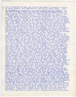 TALLY-HO # 8 FANZINE (1969) LARRY HERNDON PERSONALZINE