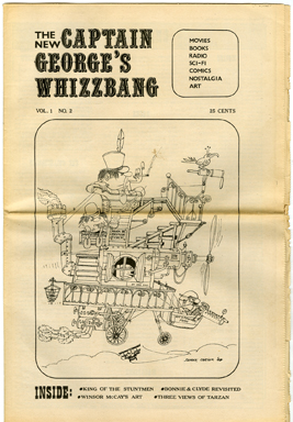 CAPTAIN GEORGE'S WHIZZBANG #2 FANZINE (1969) KING OF MOVIE STUNTMEN / WINSOR McCAY