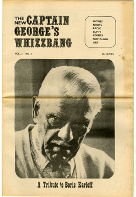 CAPTAIN GEORGE'S WHIZZBANG #3 FANZINE (1969) BORIS KARLOFF TRIBUTE / B-WESTERNS