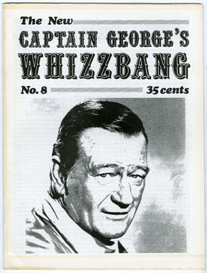 CAPTAIN GEORGE'S WHIZZBANG #8 FANZINE (1970) JOHN WAYNE / THE SHADOW / FRANKENHEIMER