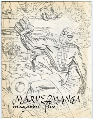 MARVELMANIA #5 FANZINE (1970) KIRBY COVER / STAN LEE PHOTOS / ALAN HANLEY