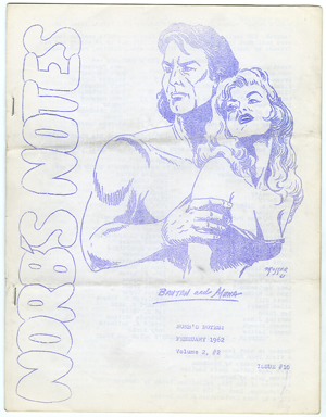 NORB'S NOTES #10 (1962) EDGAR RICE BURROUGHS FANZINE