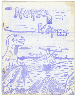NORB'S NOTES #13 (1962) EDGAR RICE BURROUGHS FANZINE