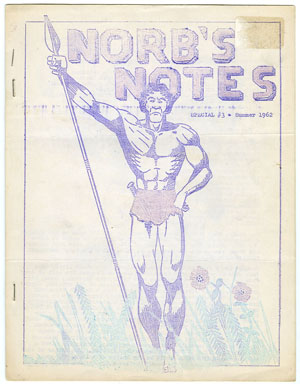 NORB'S NOTES #15 (1962) EDGAR RICE BURROUGHS FANZINE / TARZAN COVER