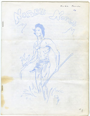 NORB'S NOTES #1 (1961) EDGAR RICE BURROUGHS FANZINE