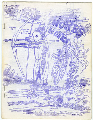 NORB'S NOTES #20 (1962) EDGAR RICE BURROUGHS FANZINE