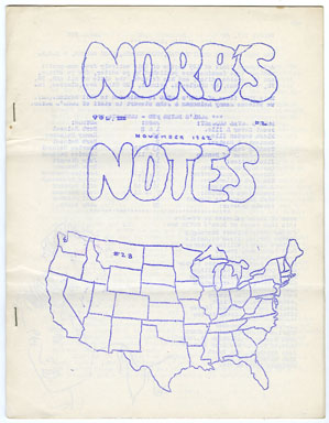 NORB'S NOTES #28 (1962) EDGAR RICE BURROUGHS FANZINE
